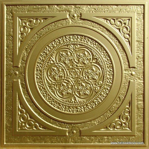225 Brass Faux Tin Ceiling Tile