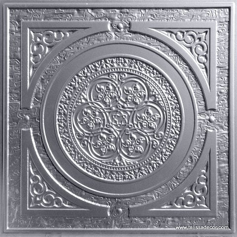 225 Silver Faux Tin Ceiling Tile