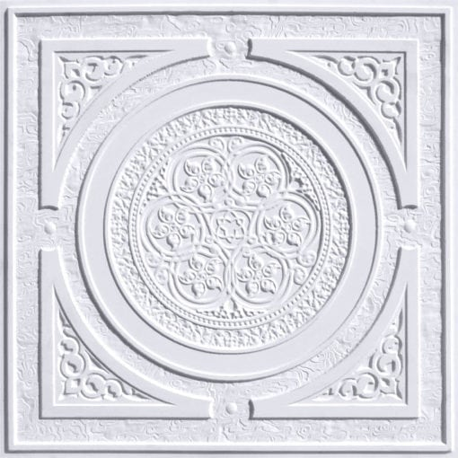 225 White Matte Faux Tin Ceiling Tile