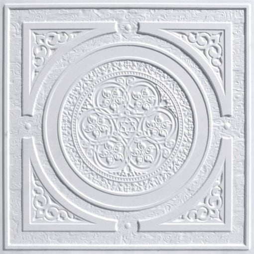 225 White Pearl Faux Tin Ceiling Tile