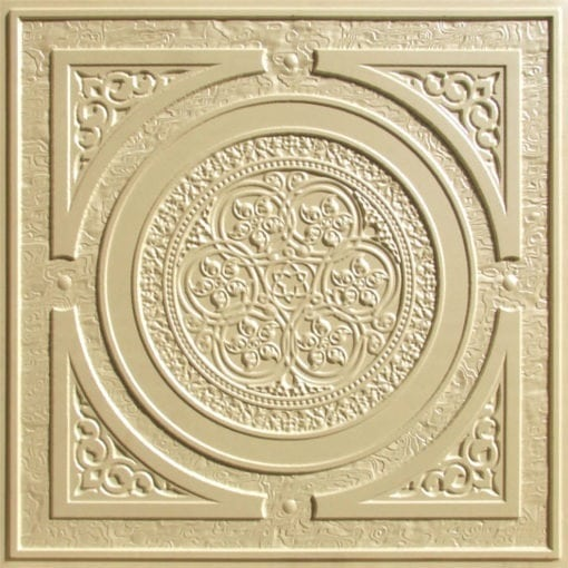 225 Cream Pearl Faux Tin Ceiling Tile