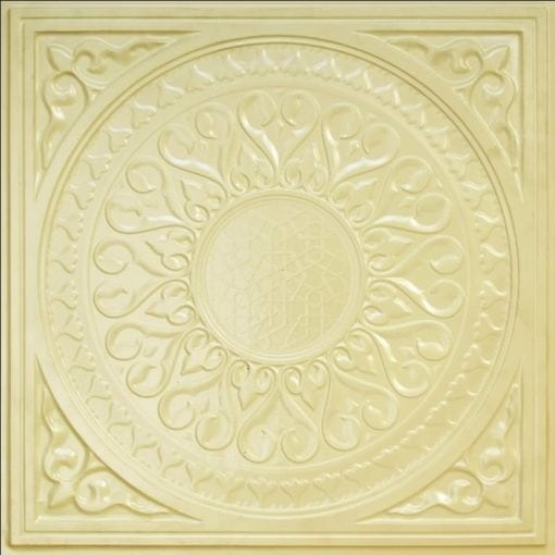 226 Cream Pearl Faux Tin Ceiling Tile