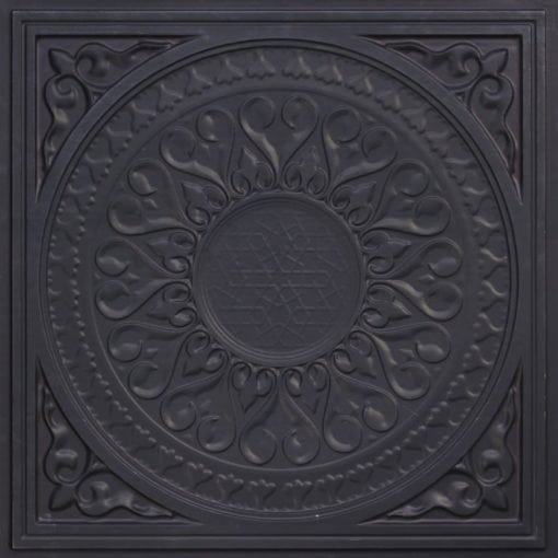 226 Black Matte Faux Tin Ceiling Tile
