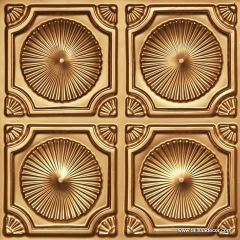 106 Gold Faux Tin Ceiling Tile