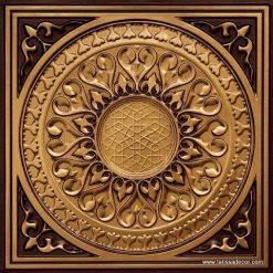 226 Antique Gold Faux Tin Ceiling Tile