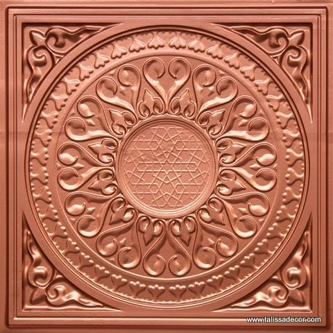 226 Copper Faux Tin Ceiling Tile