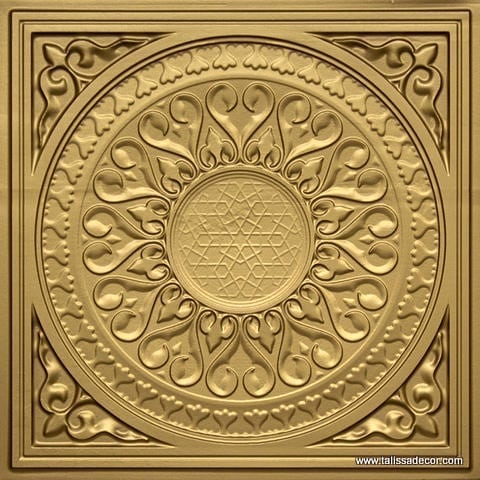 226 Brass Faux Tin Ceiling Tile