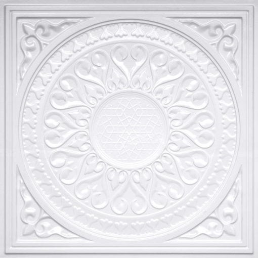 226 White Pearl Faux Tin Ceiling Tile