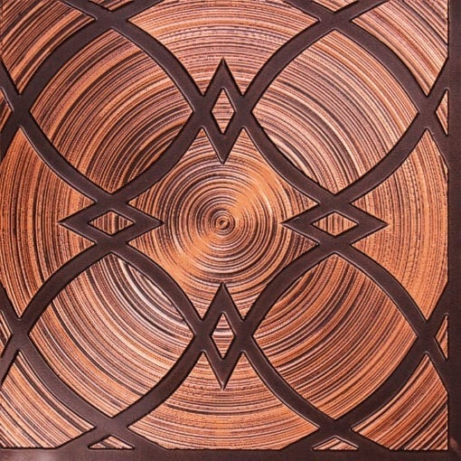 228 Antique Copper Faux Tin Ceiling Tile