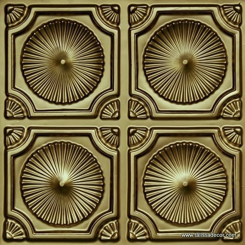 106 Brass Faux Tin Ceiling Tile