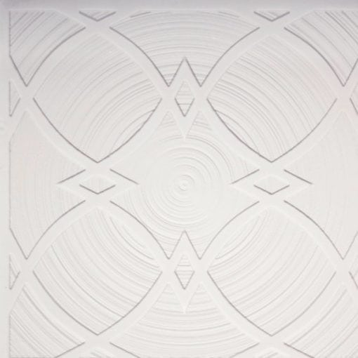 228 White Matte Faux Tin Ceiling Tile