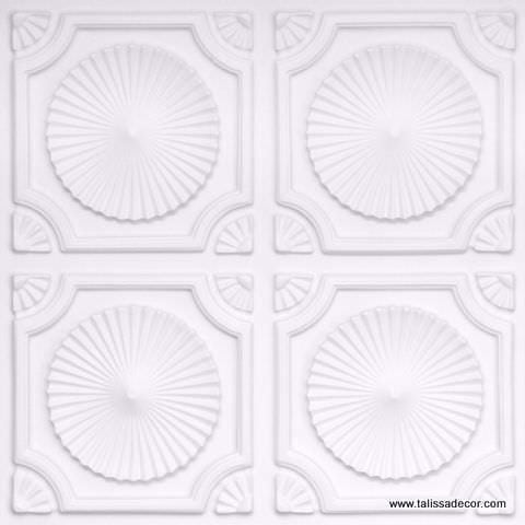106 White Matte Faux Tin Ceiling Tile