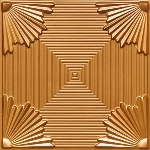 229 Gold Faux Tin Ceiling Tile