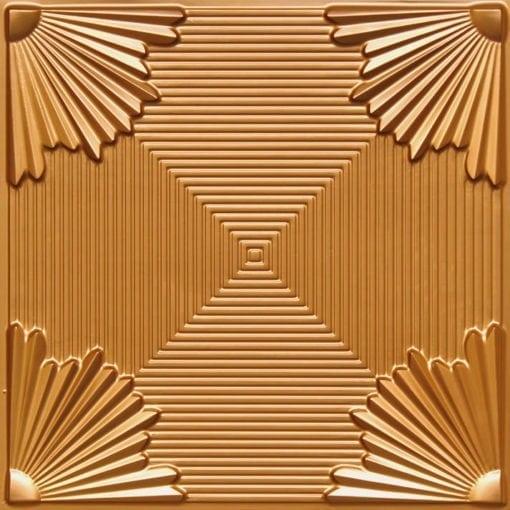 229 Gold Faux Tin Ceiling Tile