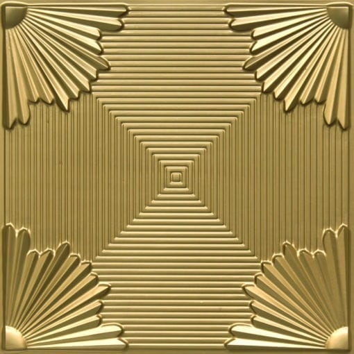 229 Brass Faux Tin Ceiling Tile