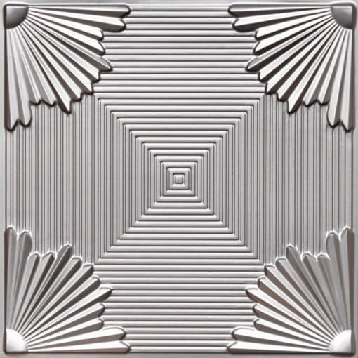 229 Silver Faux Tin Ceiling Tile