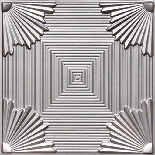 229 Silver Faux Tin Ceiling Tile