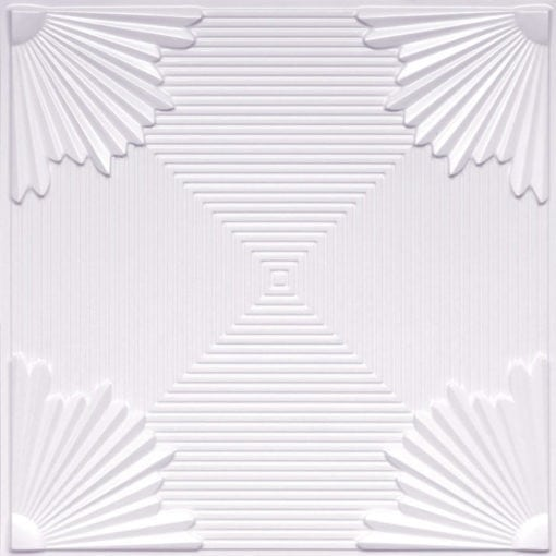 229 White Pearl Faux Tin Ceiling Tile