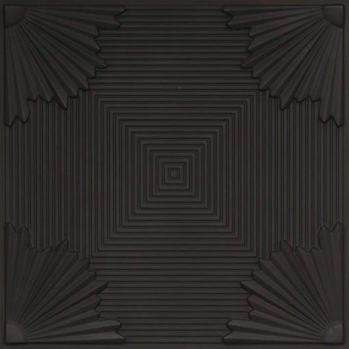 229 Black Matte Faux Tin Ceiling Tile