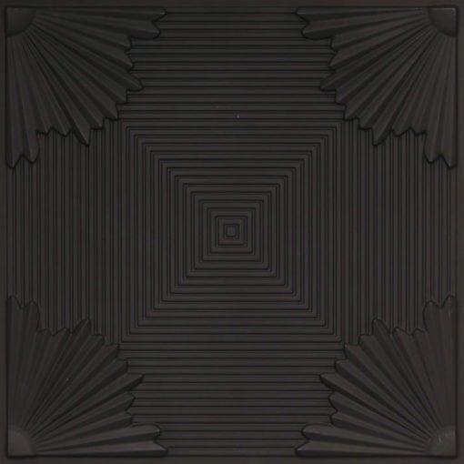 229 Black Matte Faux Tin Ceiling Tile