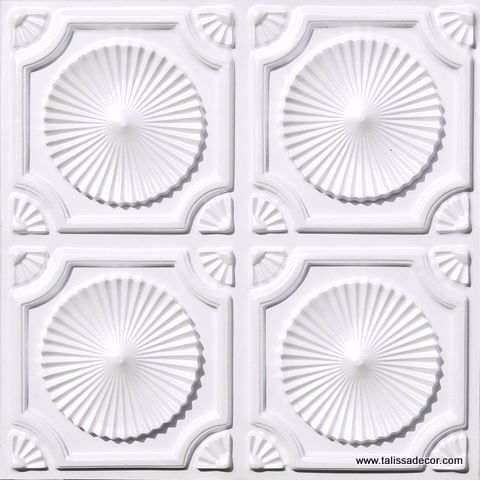 106 White Pearl Faux Tin Ceiling Tile