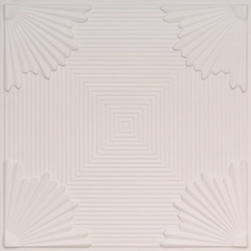229 White Matte Faux Tin Ceiling Tile