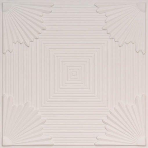 229 White Matte Faux Tin Ceiling Tile