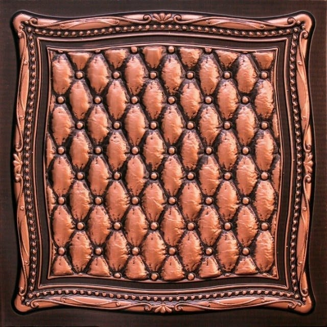 230 Antique Copper Faux Tin Ceiling Tile