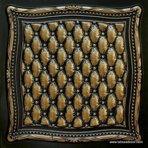 230 Antique Brass Faux Tin Ceiling Tile