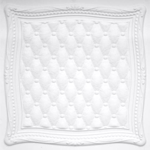 230 White Matte Faux Tin Ceiling Tile