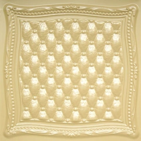 230 Cream Pearl Faux Tin Ceiling Tile