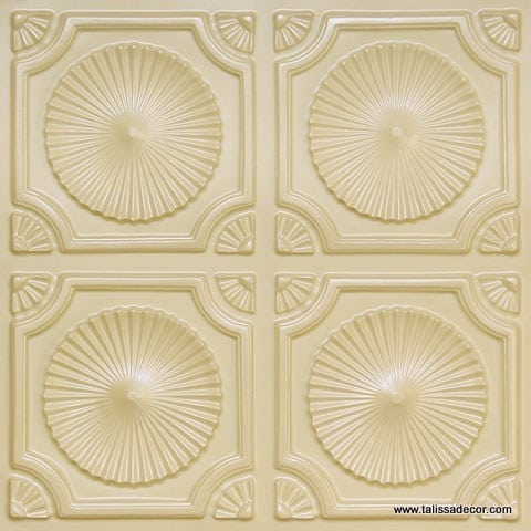 106 Cream Pearl Faux Tin Ceiling Tile