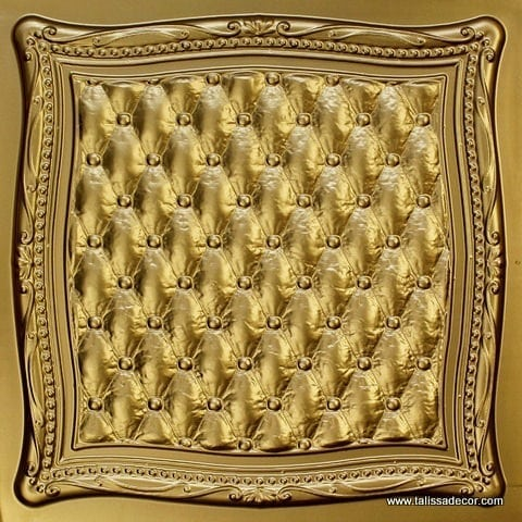 230 Brass Faux Tin Ceiling Tile