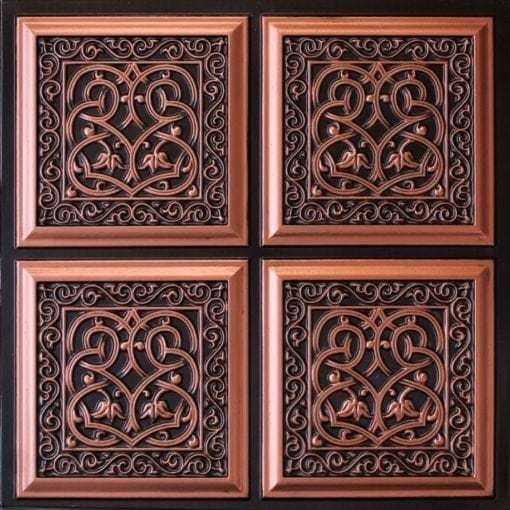 231 Antique Copper Faux Tin Ceiling Tile