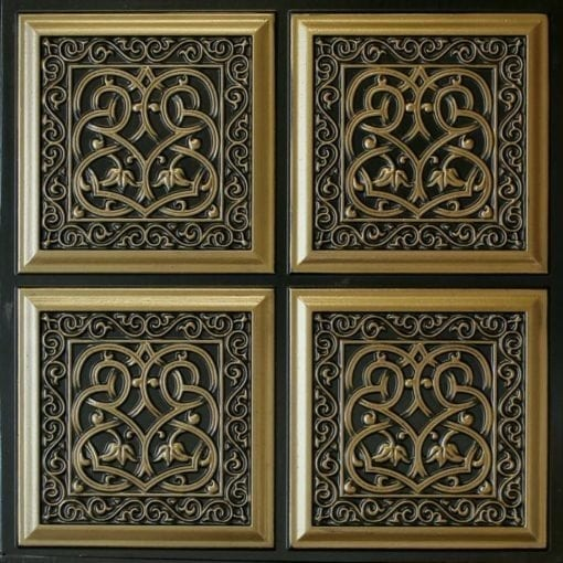 231 Antique Brass Faux Tin Ceiling Tile