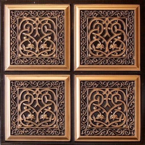 231 Antique Gold Faux Tin Ceiling Tile