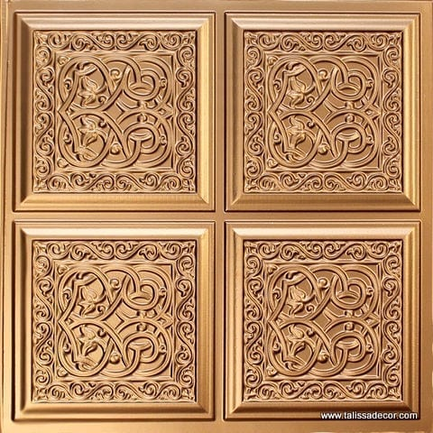 231 Gold Faux Tin Ceiling Tile