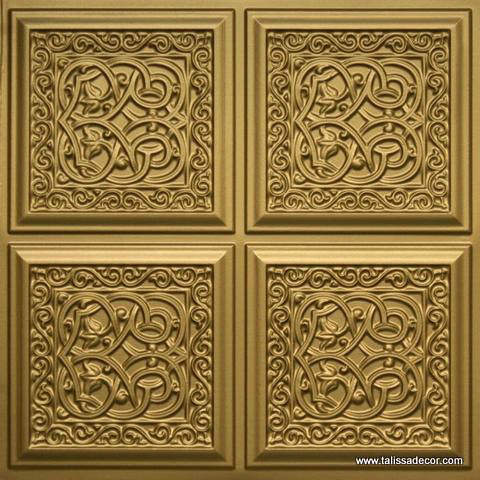 231 Brass Faux Tin Ceiling Tile
