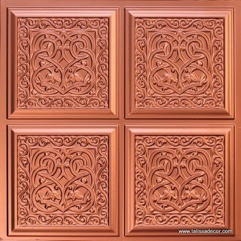 231 Copper Faux Tin Ceiling Tile