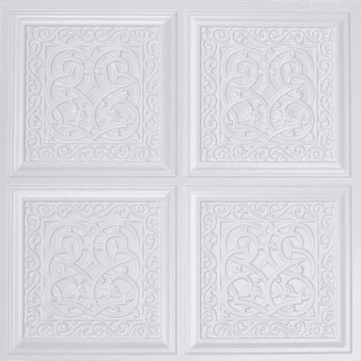 231 White Pearl Faux Tin Ceiling Tile