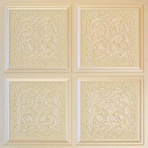 231 Cream Pearl Faux Tin Ceiling Tile