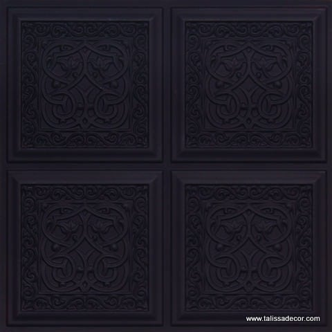 231 Black Matte  Faux Tin Ceiling Tile