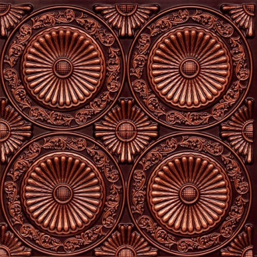 235 Antique Copper Faux Tin Ceiling Tile