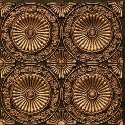 235 Antique Gold Faux Tin Ceiling Tile