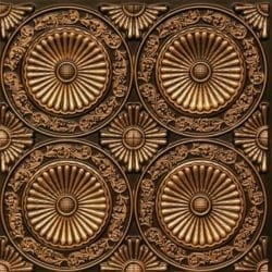 235 Antique Gold Faux Tin Ceiling Tile
