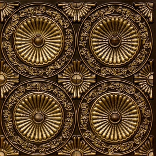 235 Antique Brass Faux Tin Ceiling Tile