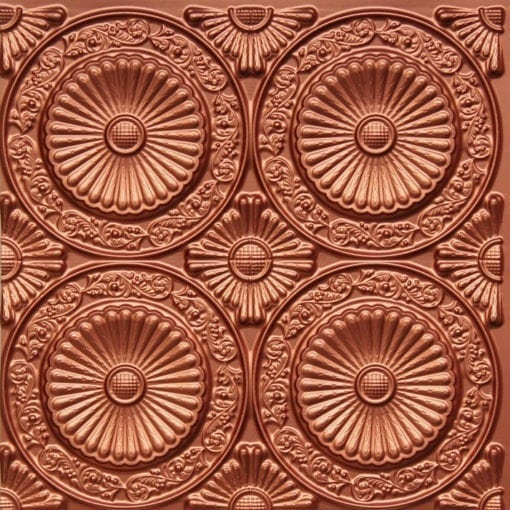 235 Copper Faux Tin Ceiling Tile