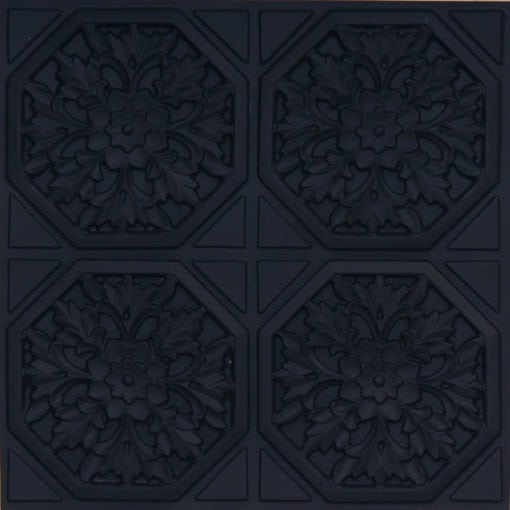108 Black Matte Faux Tin Ceiling Tile