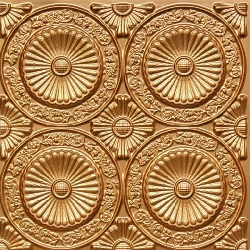 235 Gold Faux Tin Ceiling Tile