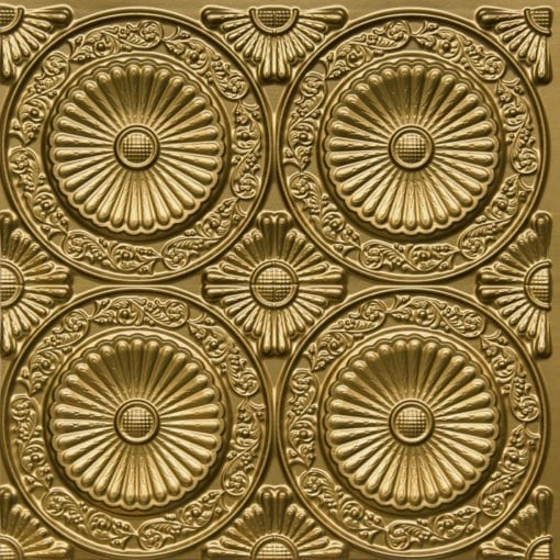 235 Brass Faux Tin Ceiling Tile